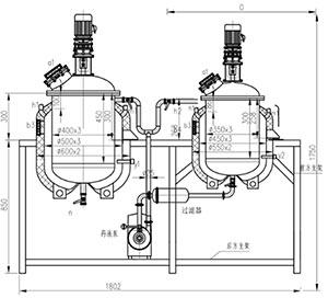 PZG30-50L浓稀配制罐机组